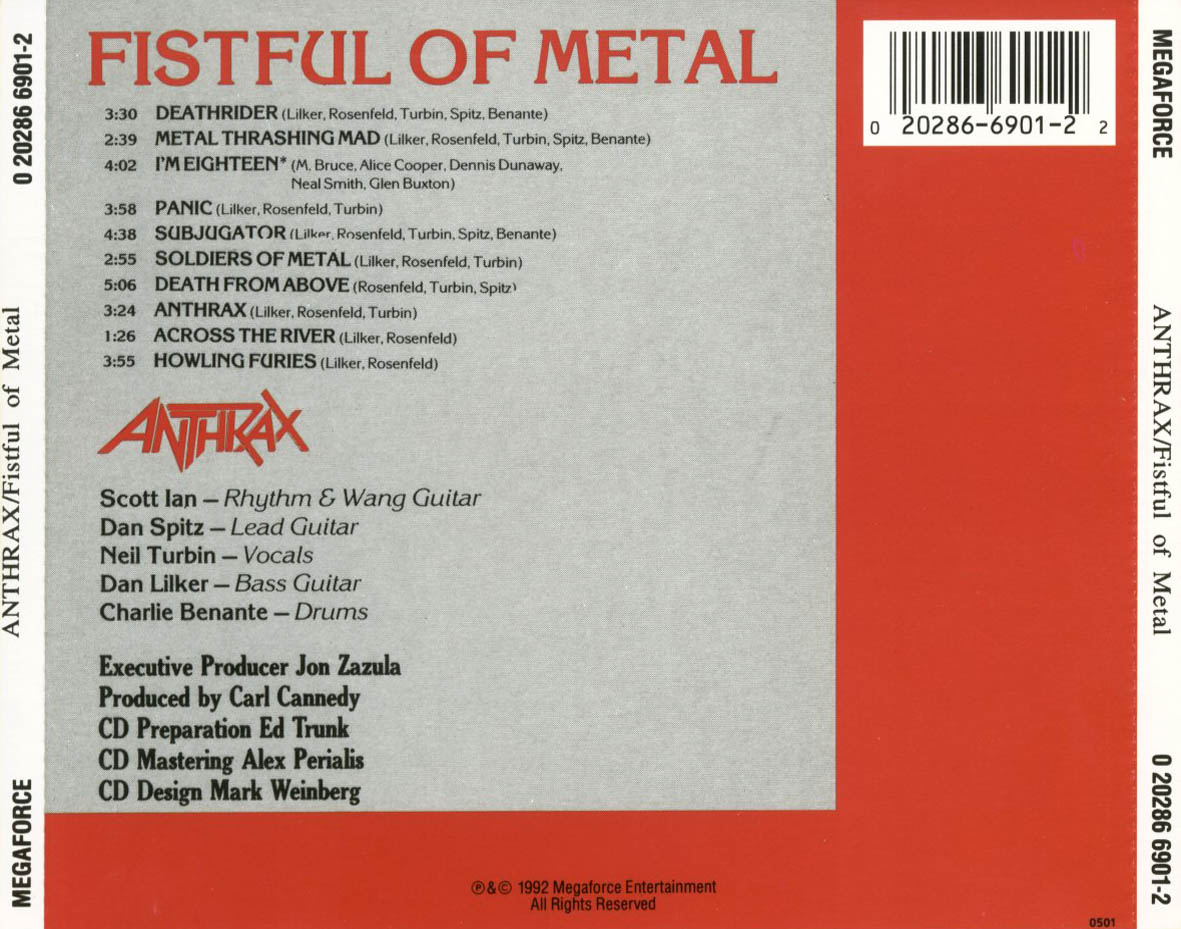 Anthrax Fistful Of Anthrax