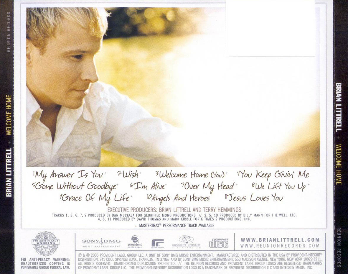 cd brian littrell welcome home