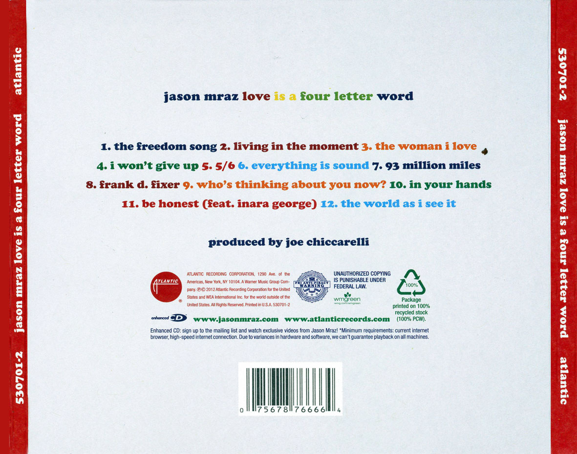 jason mraz love is a four letter word caratulas de derecho en word imagui 22623 | jason mraz love is a four letter word Trasera