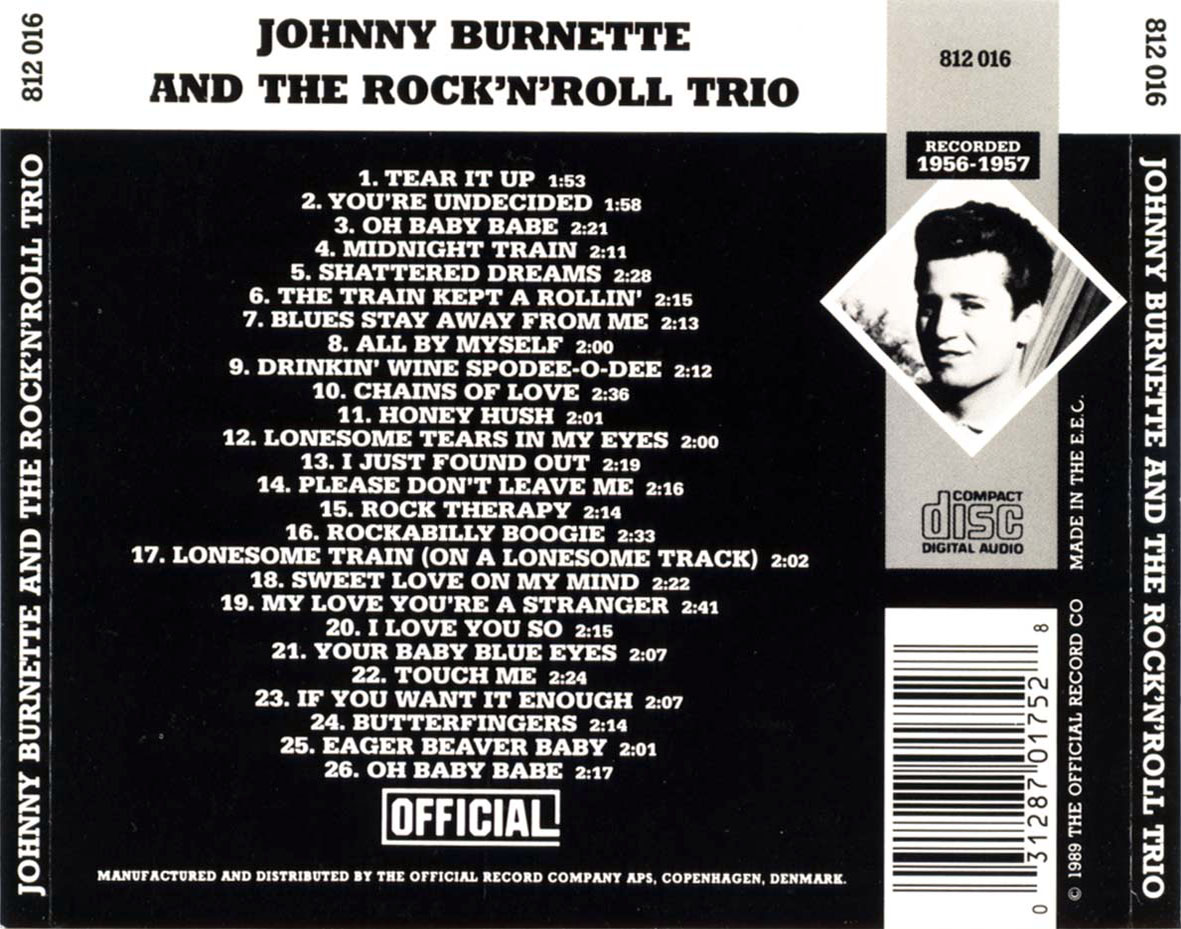 The Johnny Burnette Trio Johnny Burnette & The Rock 'n Roll Trio Rockabilly Boogie / Tear It Up