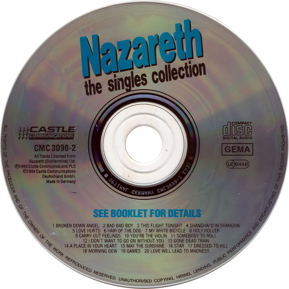 nazareth single personals The human jukebox presents a collection of original vinyl singles that can be seen and heard in true hi-fidelity mono or stereo there is no monetary gain fr.