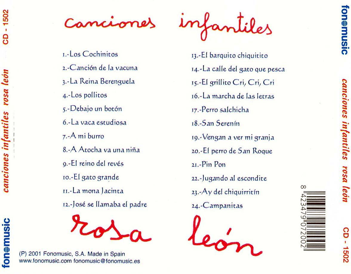 Rosa leon canciones infantiles for Cancion jardin de rosas en ingles