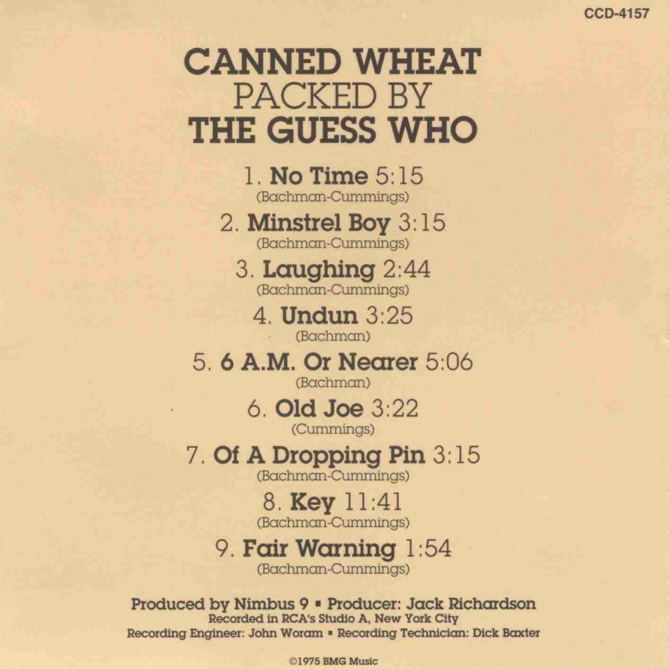 Guess Who Canned Wheat