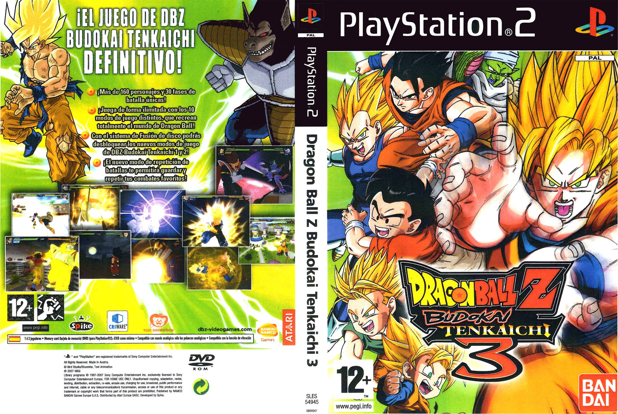 Dragon Ball Z Budokai Tenkaichi 3 Version Latino Ps2