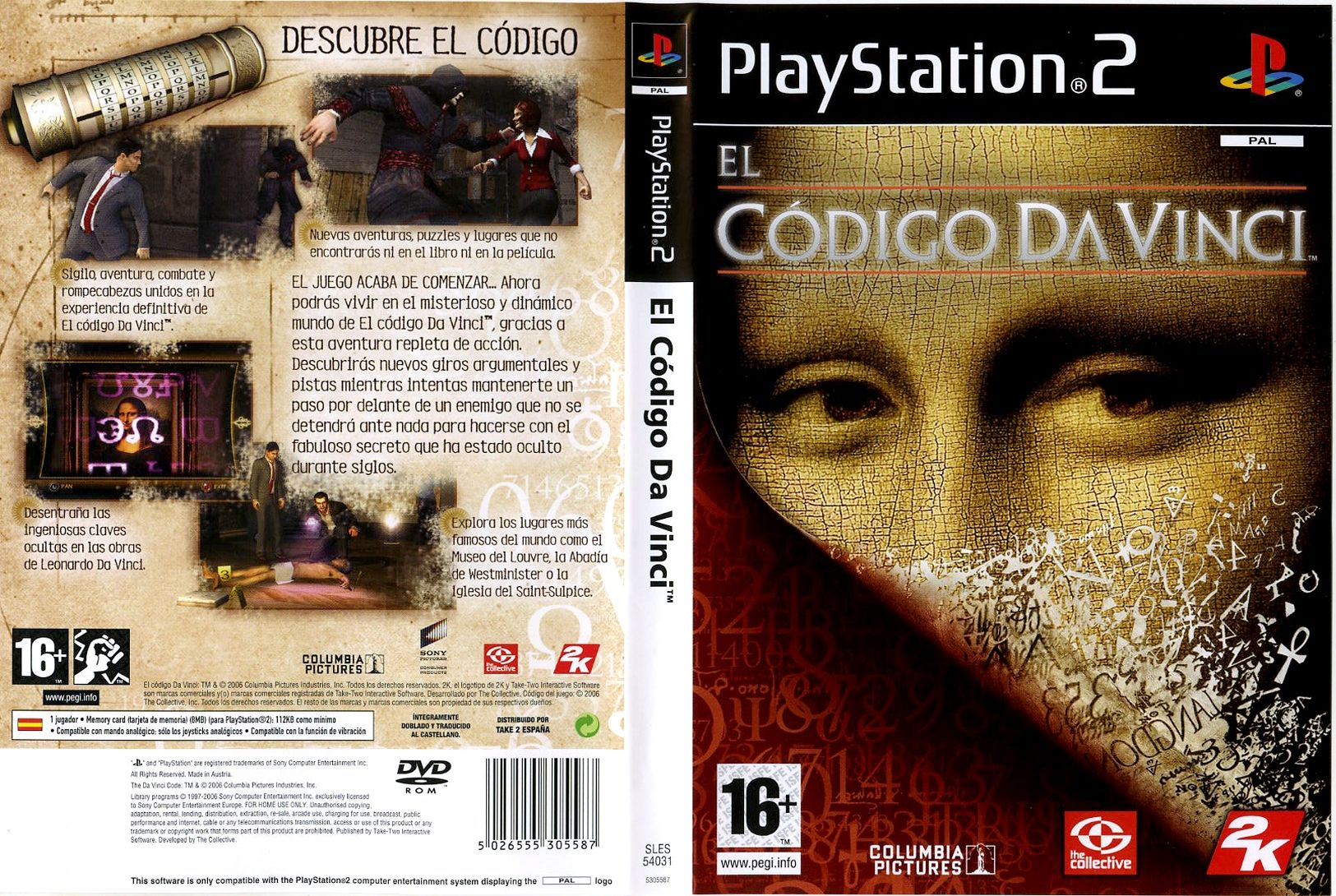 el codigo da vinci play station 2: