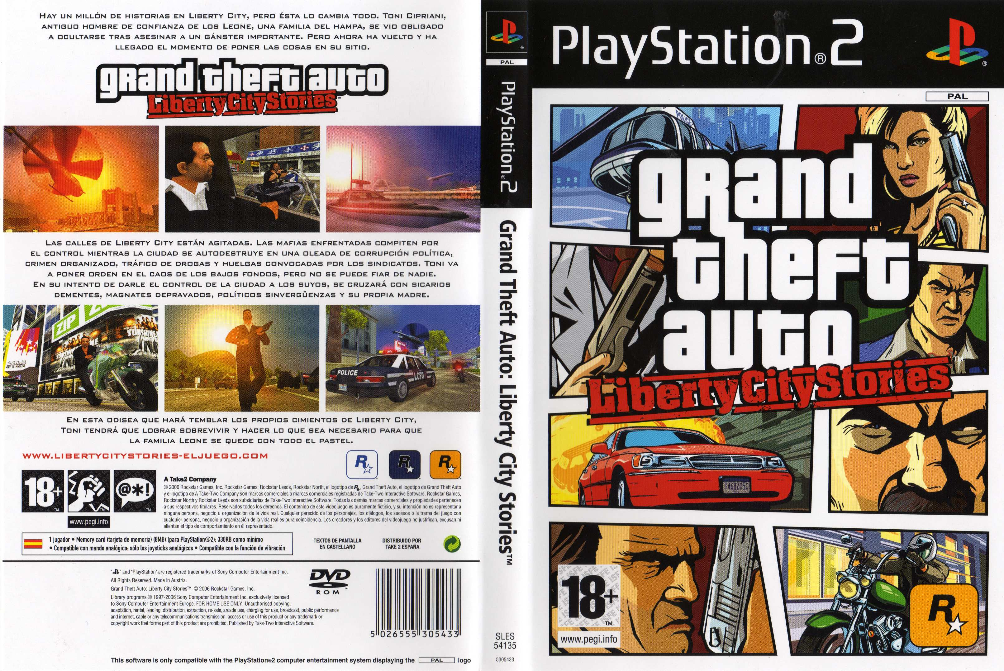 Grand Theft Auto Liberty City Stories [Pal] [Español] [PS2] [DSL]