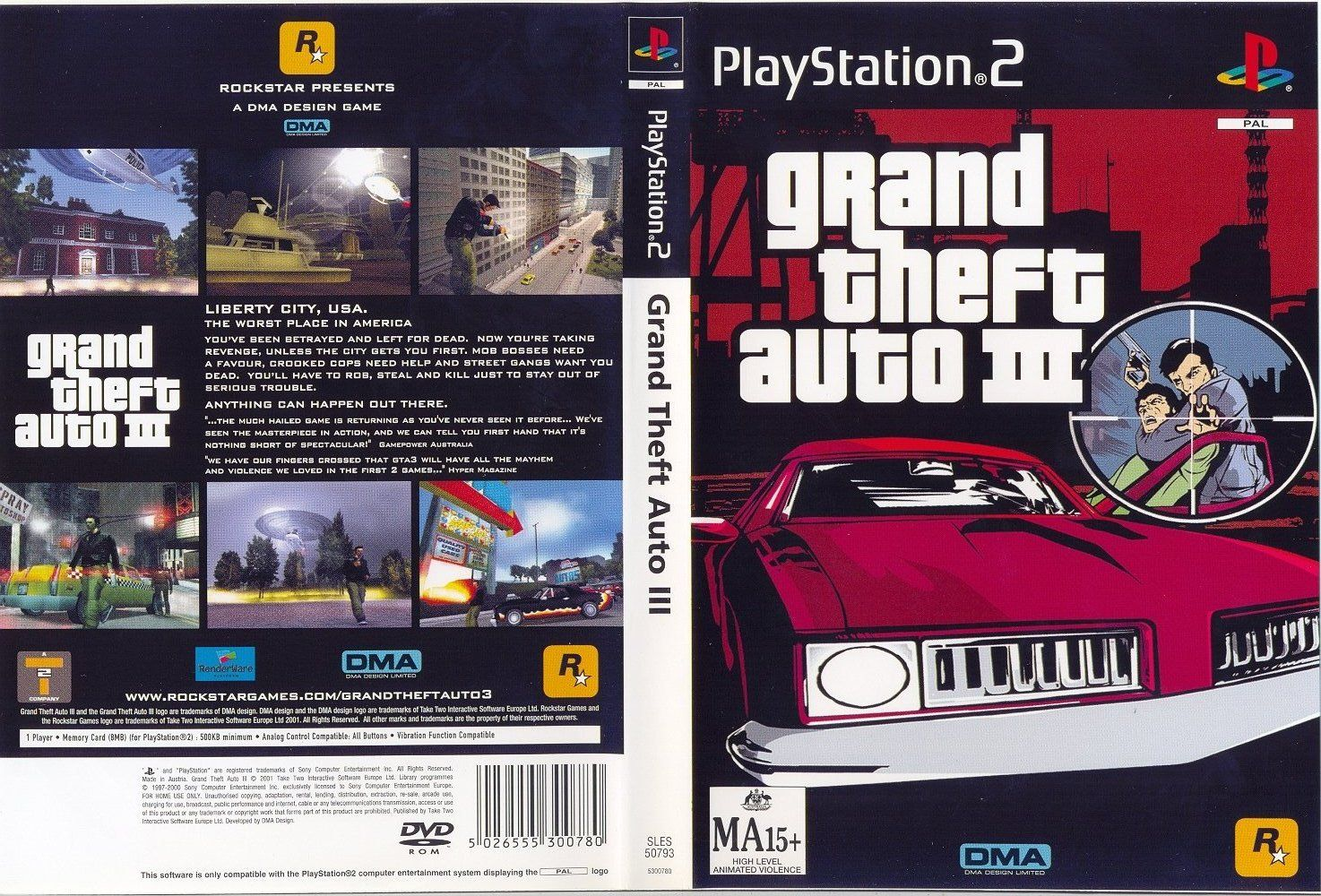 The gallery for --> Grand Theft Auto 3 Ps2