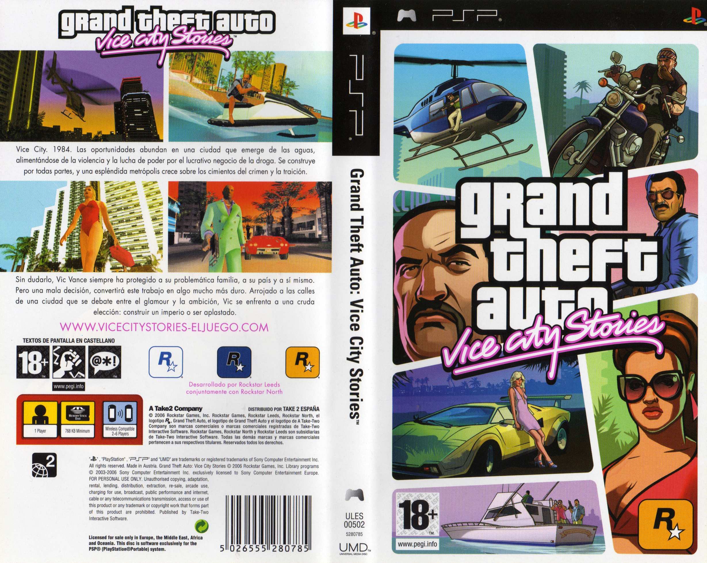 Grand theft auto vice city stories completa psp