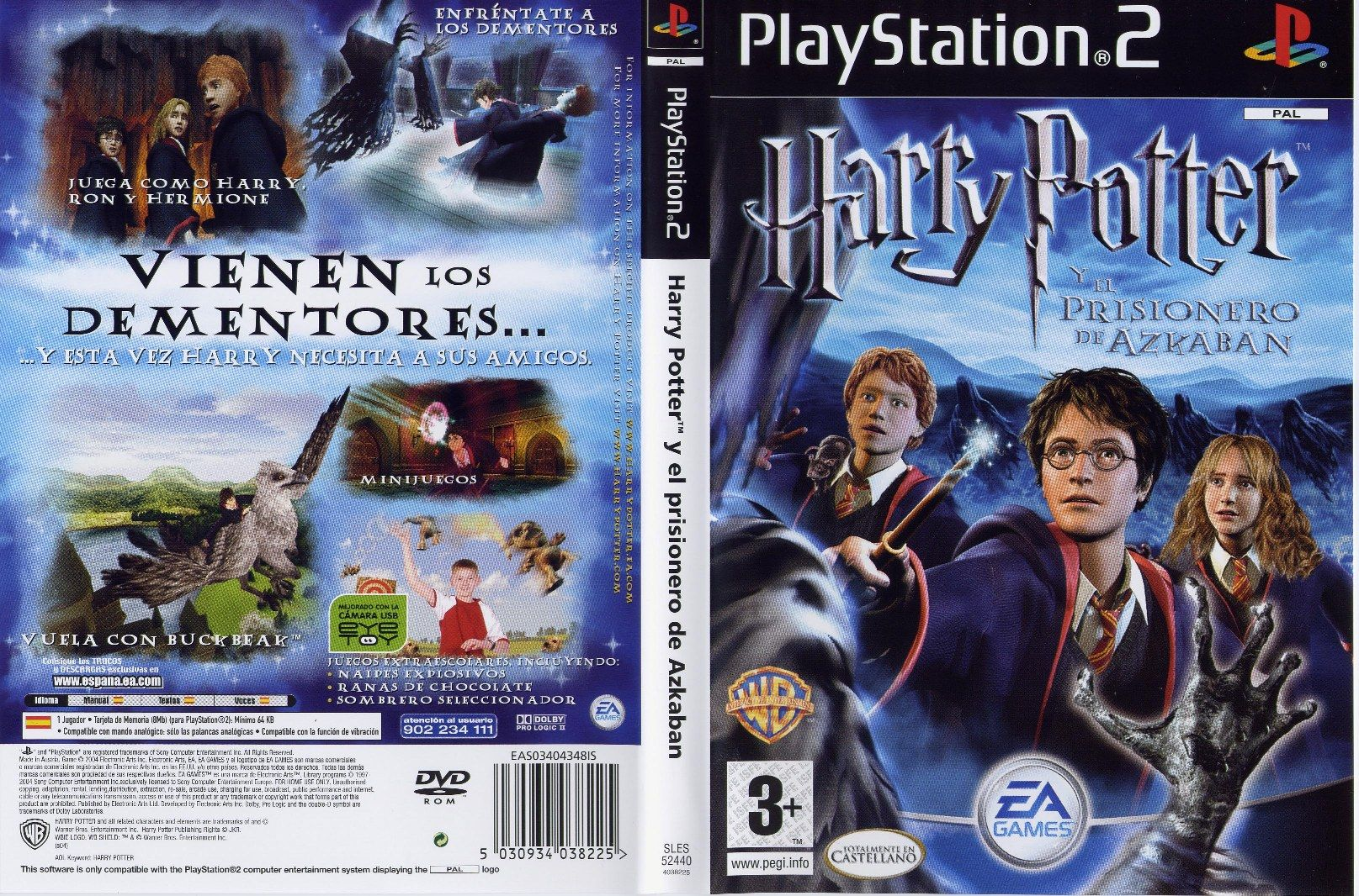 Caratula De Harry Potter Y El Prisionero De Azkaban Para Ps2