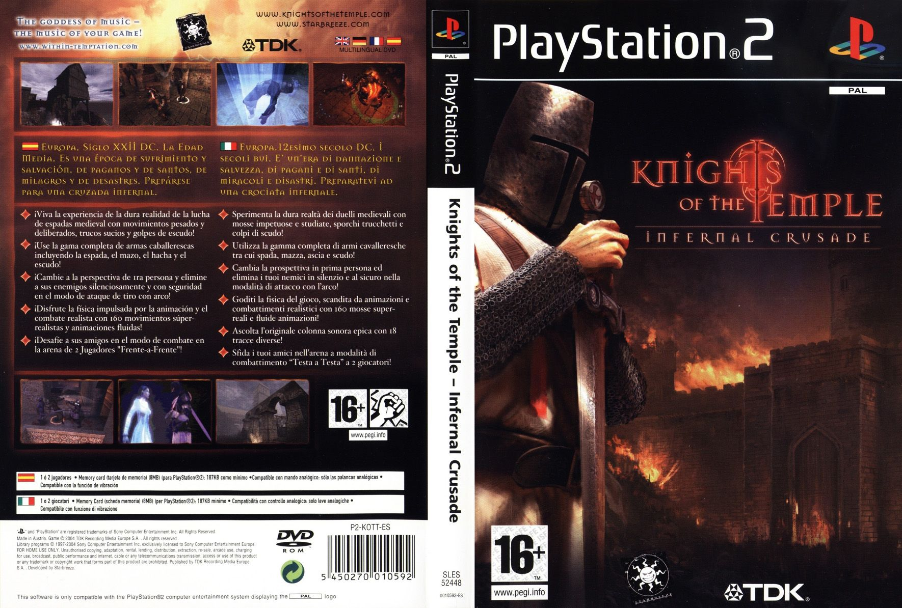 Knights of the Temple (Jeu Playstation 2) - Images, vidéos, astuces ...: http://www.just-gamers.fr/ps2/knights-of-the-temple.html