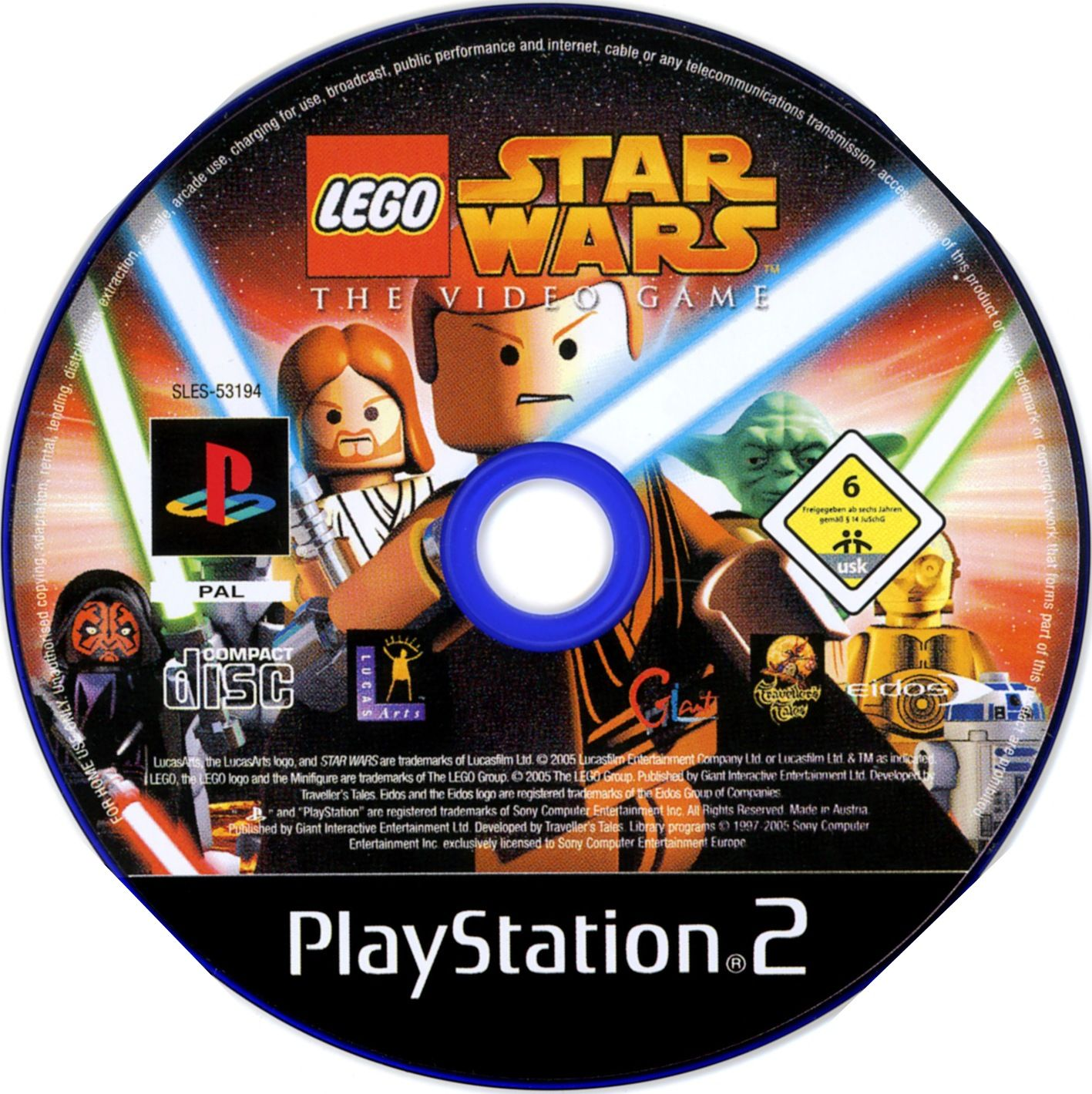 Lego star wars cd ps2