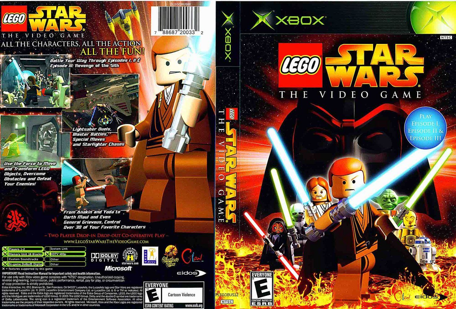 Lego star wars the video game dvd xbox