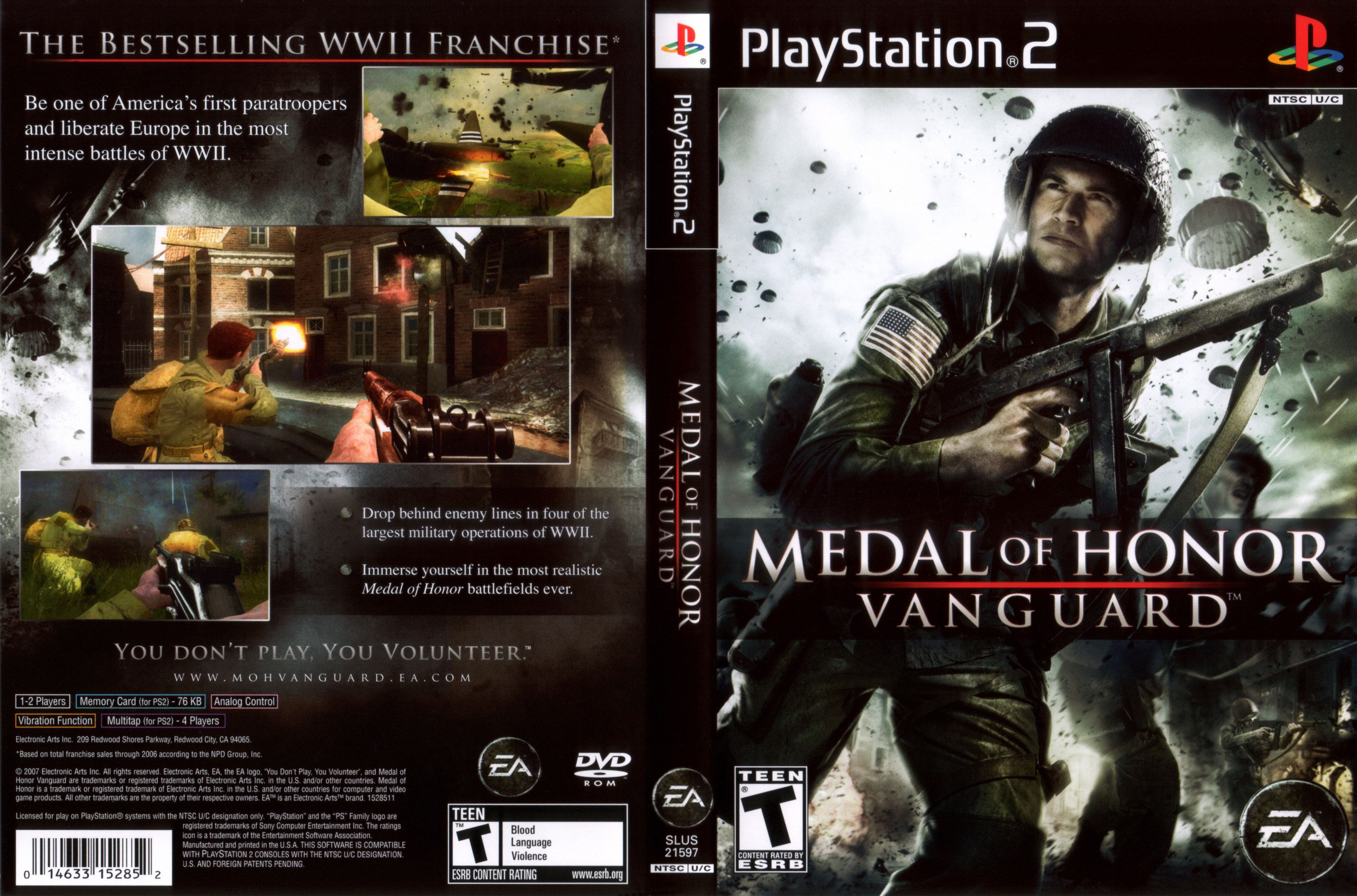 Medal of Honor Vanguard [PS2][NTSC][Ingles][ISO DVD5]