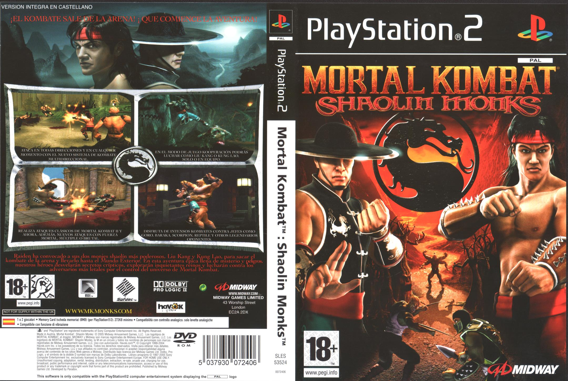 descargar mortal kombat shaolin monks para pc
