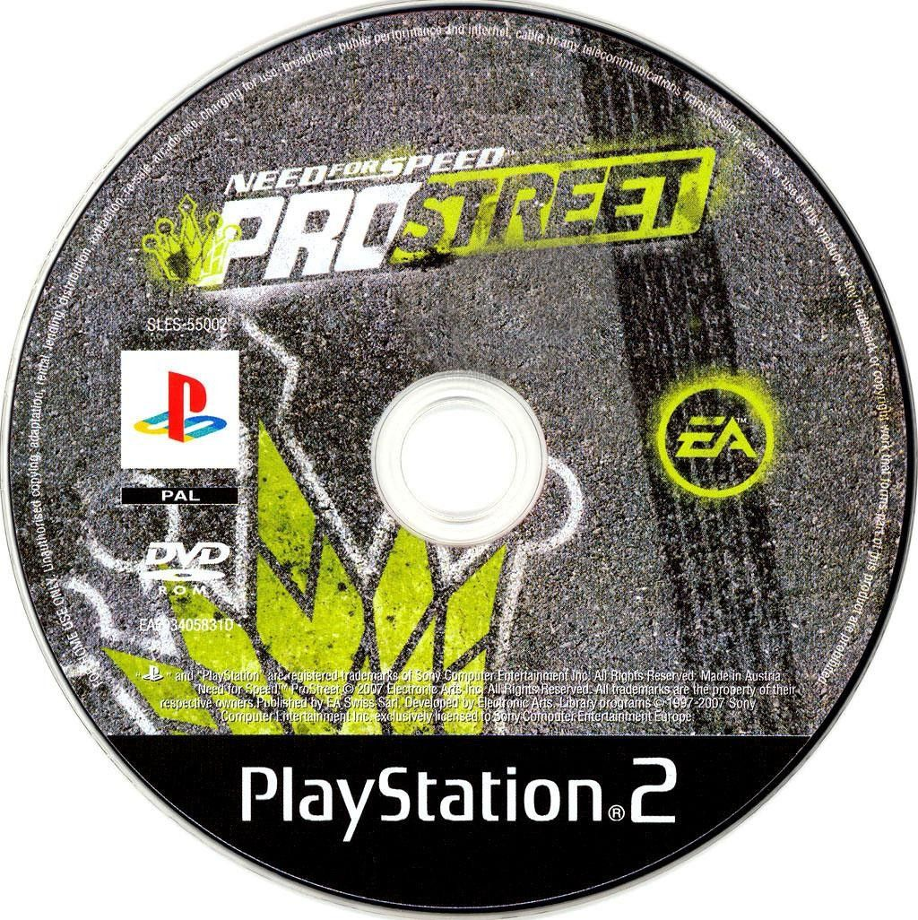 Need for Speed Pro Street PS2 Cover