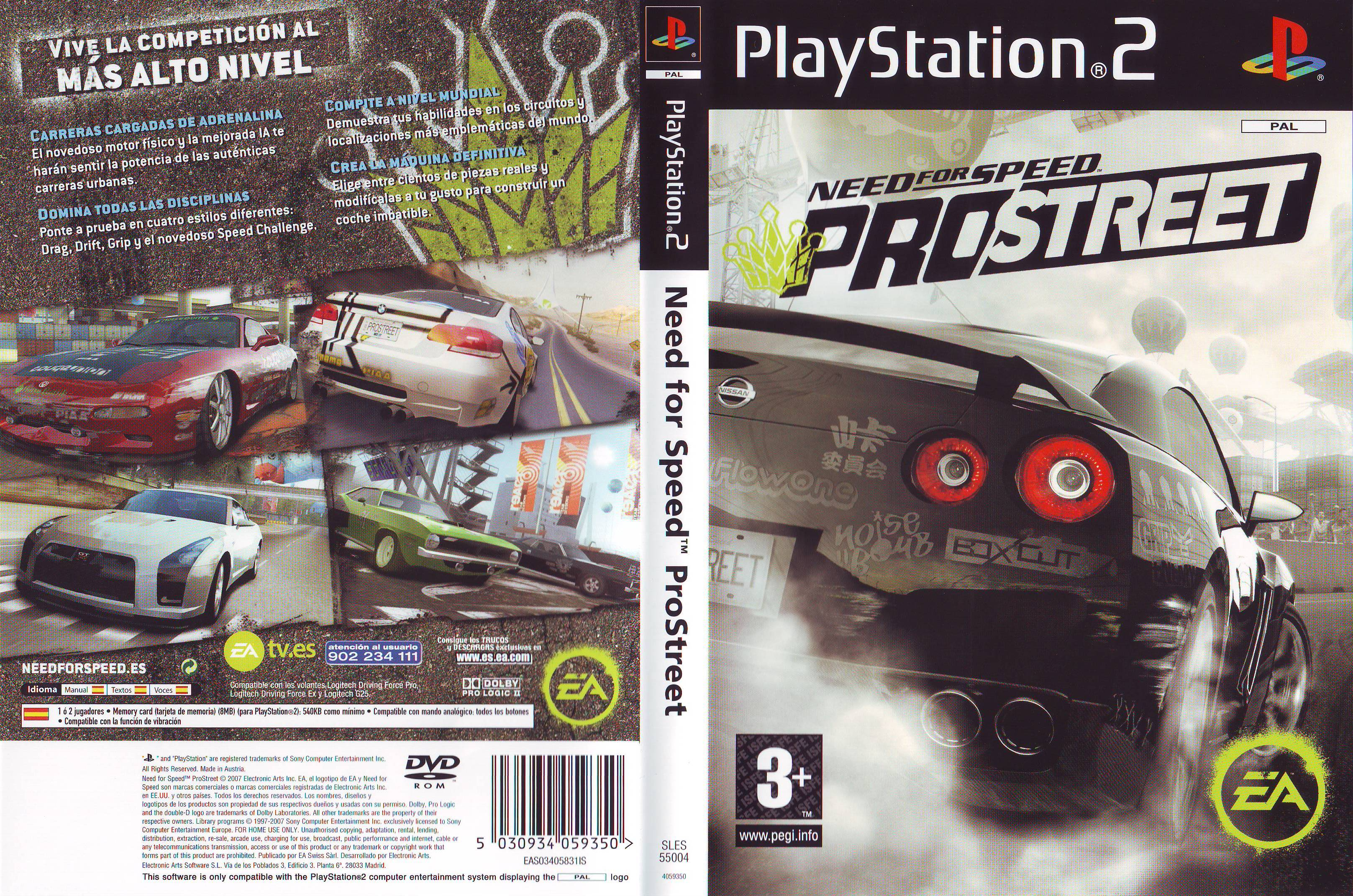 Need For Speed Pro Street [Ps2] [Espa?ol] - Identi Ps2 Need For Speed