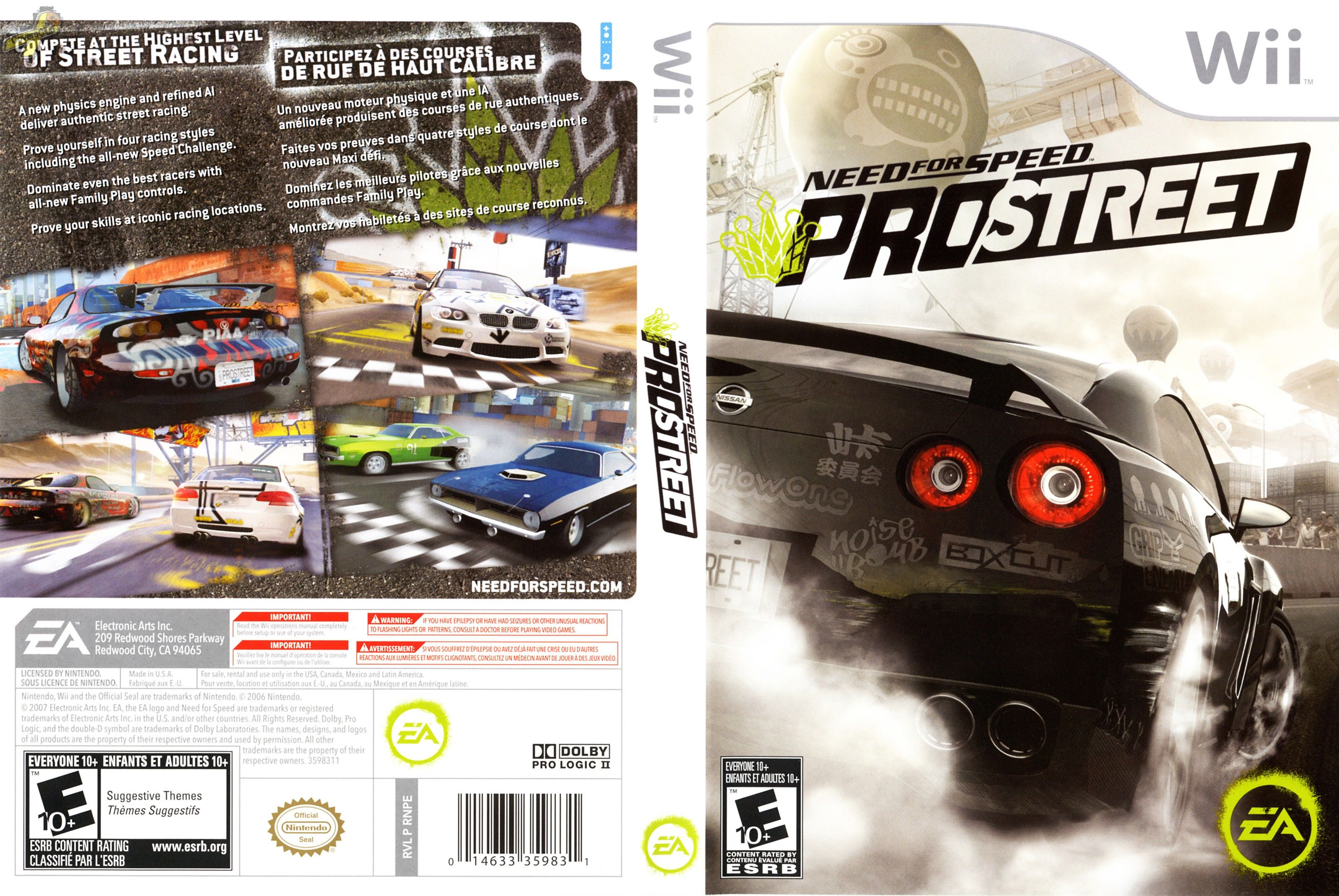need for speed pro street cheats wii free car marker reiwine. Black Bedroom Furniture Sets. Home Design Ideas