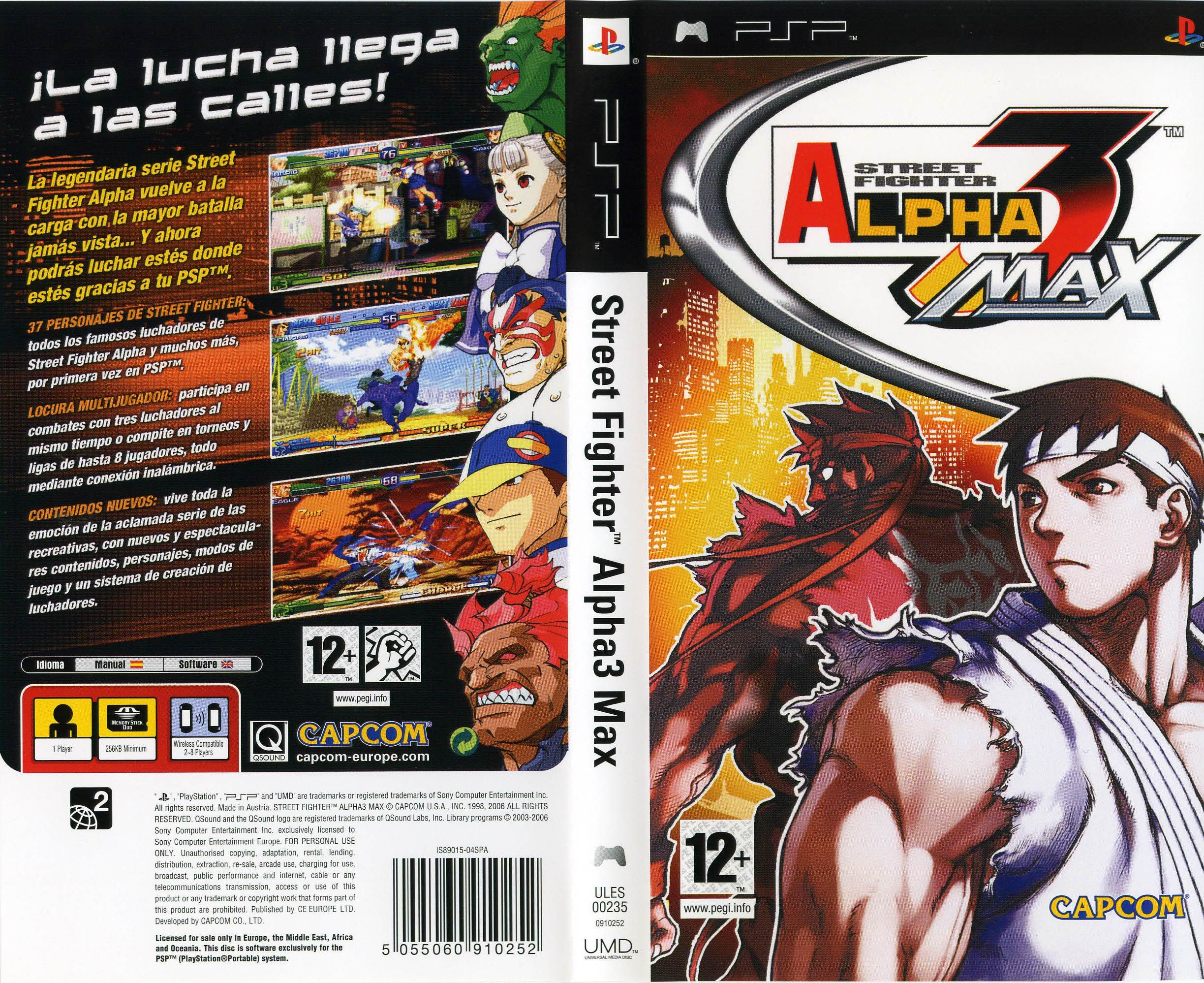 juego psp street fighter: