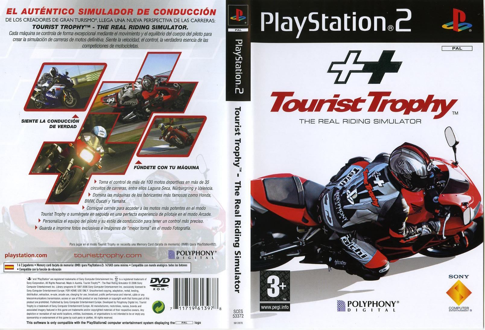 Tourist Trophy PS2 Cover