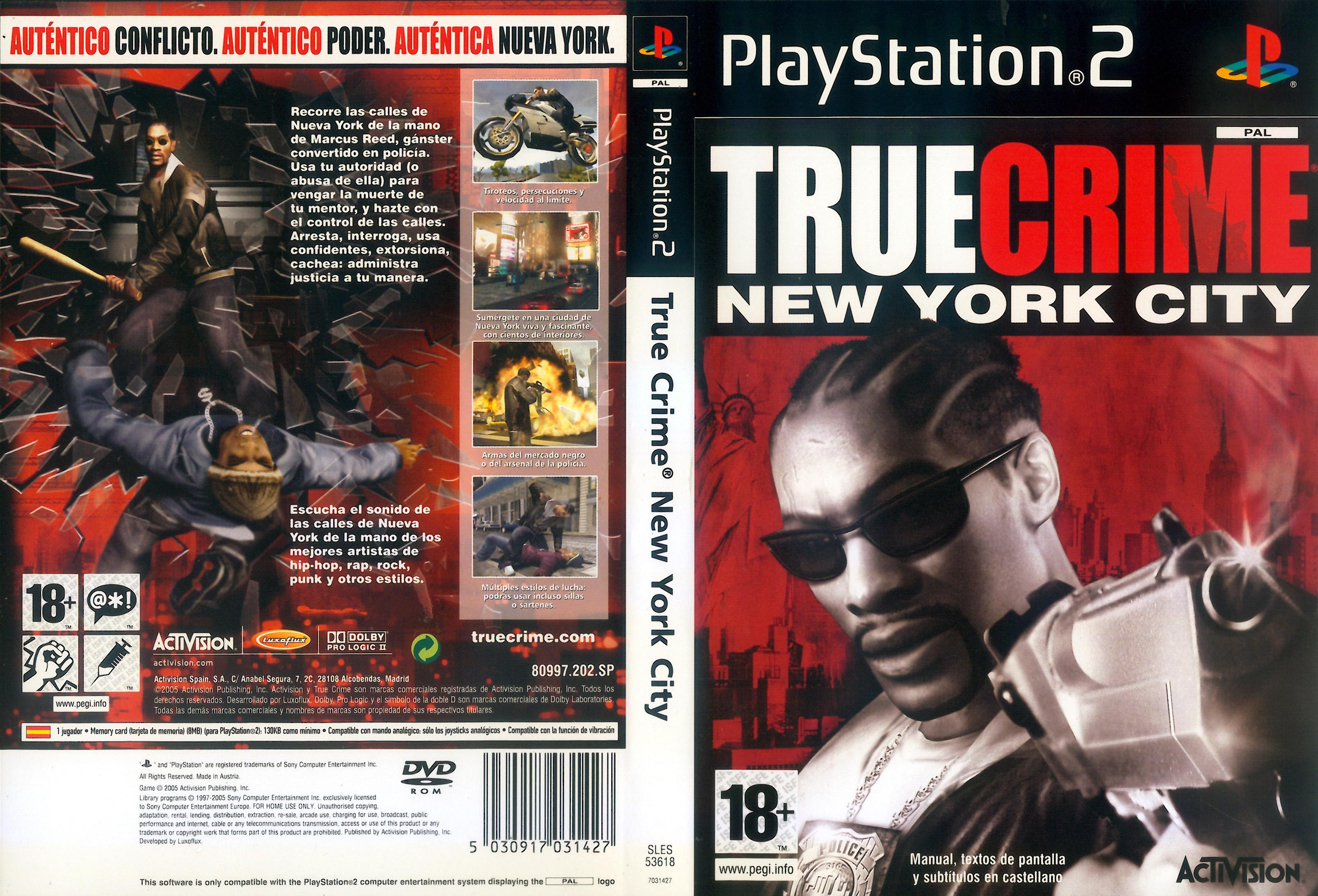 True crime new york city pal español ps2 mg fd