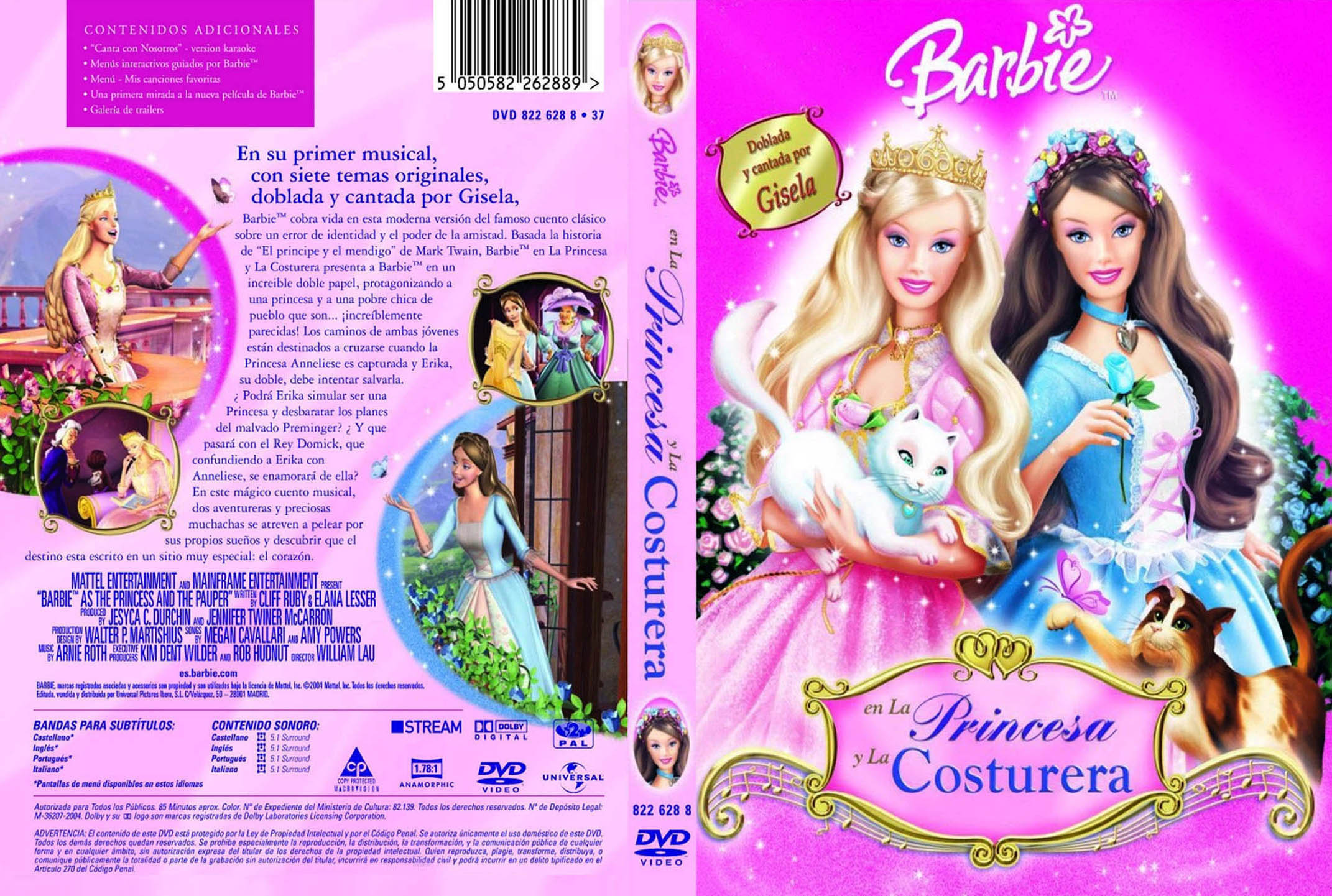 Barbie la princesa y la costurera castellano
