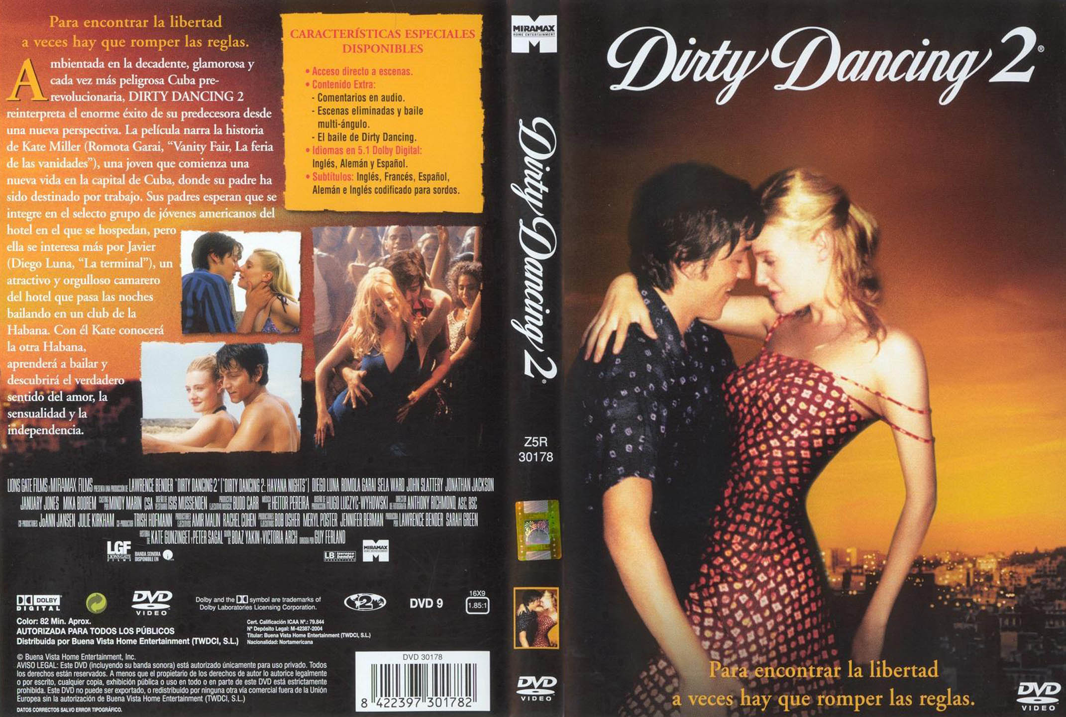 Car tula caratula de dirty dancing 2 caratulas com - Pelicula dirty dancing ...