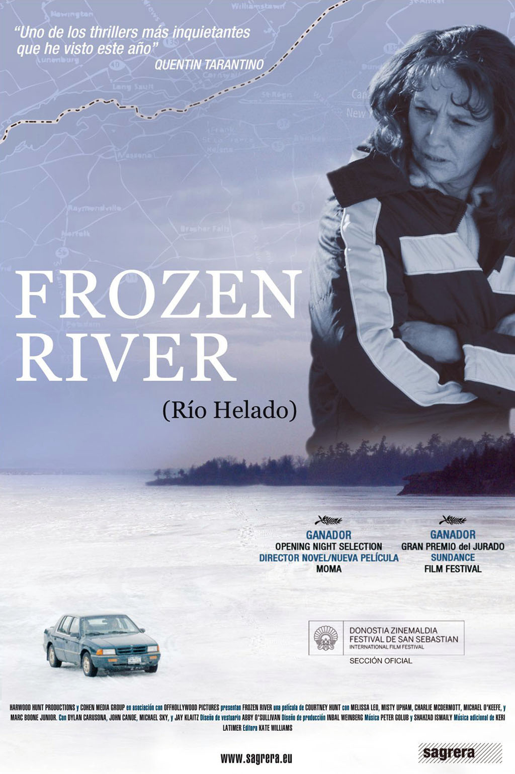 review notes frozen river Opens august 1 sundance film fest 2008 (dramatic competition)--courtney hunt makes a striking feature directorial debut with frozen river, a tale of.