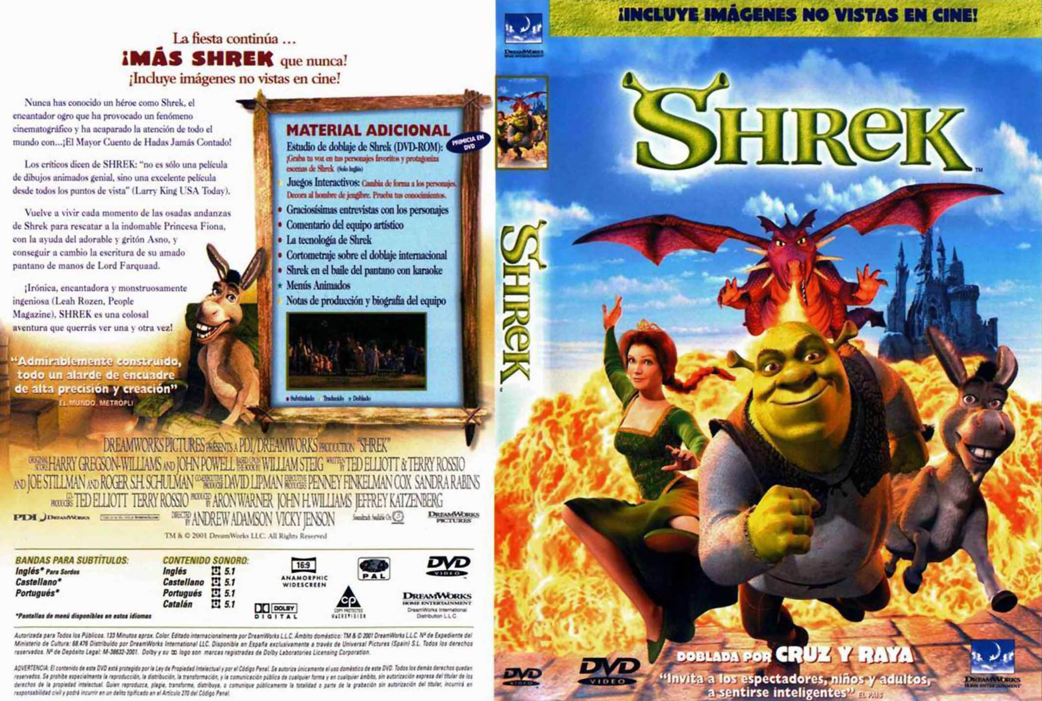 Opening to Shrek DVD 2001